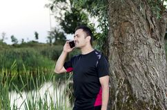 Conversação telefônica na licença Imagens de Stock