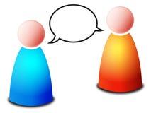 Conversa ilustração royalty free