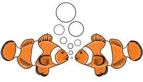 Conversa 3 dos peixes ilustração stock