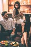 Conversa amigável Fotos de Stock Royalty Free