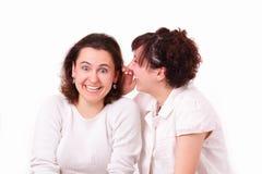 Conversa bonita de duas raparigas Imagens de Stock