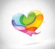 Conversa colorida abstrata da bolha Imagem de Stock
