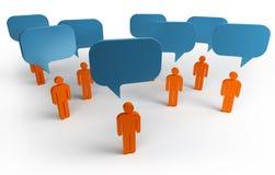 Conversa da bolha Imagens de Stock