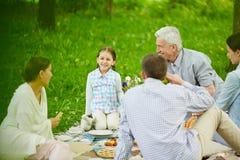 Conversa da família imagem de stock