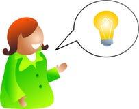 Conversa da idéia ilustração royalty free
