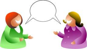 Conversa da menina ilustração stock