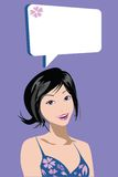 Conversa da mulher ilustração stock