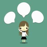 Conversa da mulher de negócios ilustração stock