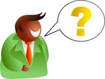 Conversa da pergunta ilustração royalty free