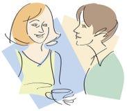 Conversa das mulheres ilustração do vetor