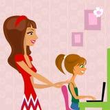 Conversa das raparigas ilustração do vetor