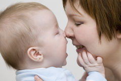 Conversa de bebê Fotos de Stock Royalty Free