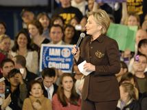 Conversa de Hillary sobre cuidados médicos Fotografia de Stock Royalty Free