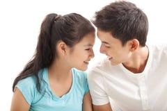 Conversa de Lover?s Imagem de Stock
