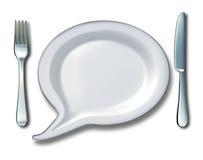 Conversa do alimento ilustração stock