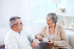 Conversa do chá Imagem de Stock