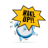 Conversa do despertador Foto de Stock Royalty Free