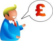 Conversa do dinheiro ilustração do vetor