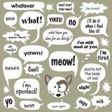 conversa do gato ilustração royalty free