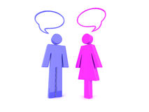 Conversa do homem e da mulher Fotografia de Stock Royalty Free