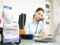 Conversa do telefone Imagens de Stock Royalty Free