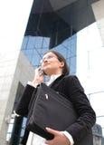 Conversa do telefone do negócio Fotografia de Stock