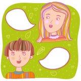 Conversa dos pares Foto de Stock