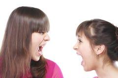 Conversa em vozes levantadas Imagens de Stock Royalty Free