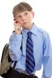 Conversa móvel Fotografia de Stock Royalty Free