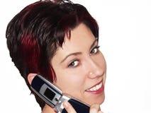 Conversa móvel Imagens de Stock Royalty Free