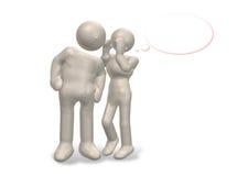 Conversa secreta ilustração stock