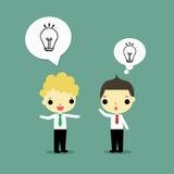 Conversa sobre a ideia ilustração stock