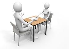 Conversa sobre o divórcio Imagens de Stock Royalty Free