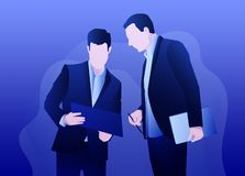 Conversa sobre o negócio ilustração royalty free
