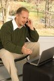 Conversa telefónica do escritório Home Imagem de Stock