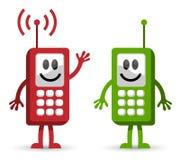 Conversación del teléfono celular ilustración del vector