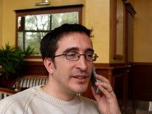 Conversación telefónica 1 Imagen de archivo libre de regalías