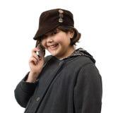 Conversación telefónica imágenes de archivo libres de regalías