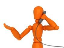 Conversación telefónica. Fotografía de archivo libre de regalías