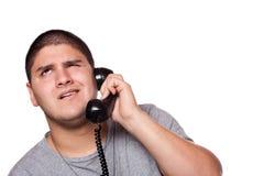 Conversación telefónica de la frustración Foto de archivo libre de regalías