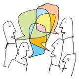 Conversaciones coloridas Imagen de archivo libre de regalías
