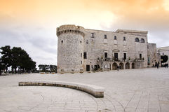 Conversano castle stock photography
