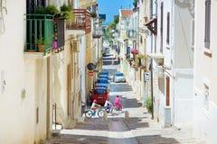CONVERSANO, ITALY - MAY 30, 2015: Typical medieval narrow street in beautiful town of Conversano Stock Photography