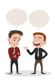 Conversation. A man speaking and a man get bored Stock Photography