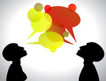 Conversation boxes Royalty Free Stock Photography