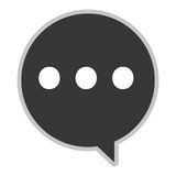 conversation bubble with dots Royalty Free Stock Photography