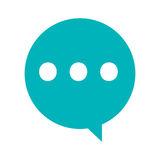 conversation bubble and three dots Royalty Free Stock Image