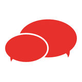 Conversation bubbles with dots icon design. Two conversation bubbles with three dots in their center illustration flat style design vector illustration