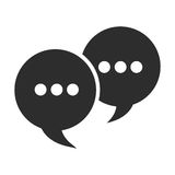 Conversation bubbles with dots icon. Simple flat design conversation bubbles with dots icon illustration vector illustration