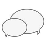 Conversation bubbles icon. Two conversation bubbles speech illustration design royalty free illustration